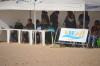 Palanque de juízes na 1ª Etapa do Circuito Regional de Surf do Sul, na Praia da Rocha (@paulomarcelino)