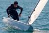 Eduardo Marques não conseguiu acabar uma das regatas mas manteve a liderança em Laser (@fpv)