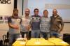 Da esquerda: Manuel Mestre, presidente do Clube de Surf de Faro, com os 'shapers' Leandro Simões, Ivo Afonso, Nick Uricchio e Uwe Kluba (@paulomarcelino)