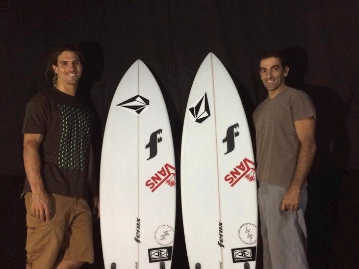Alex e Octávio com as novas versões 'Top Secret' e 'Fractal' que acabaram por ser testadas na Tailândia (®Ferox)