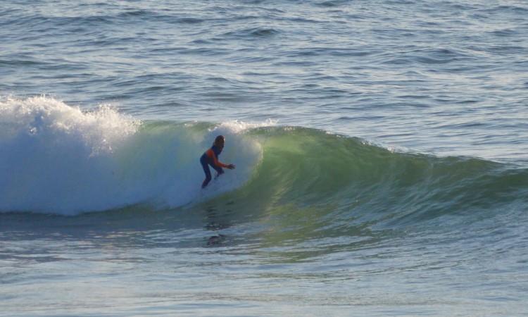 Última surfada do dia terminou pelas 20h00 (®PauloMarcelino)