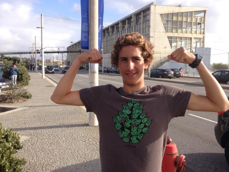 Frederico 'Martim' Magalhães esteve muito forte na Praia Internacional, Porto (®NSM)