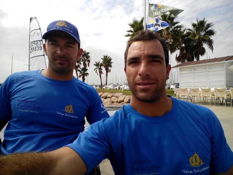João Pinto e Luís Brito, equipa Vela Solidária / Iate Clube Marina de Portimão em Valência, com o apoio Turismo de Portimão (®VelaSolidaria)