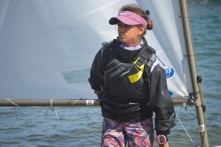Beatriz Gago, Clube Naval de Portimão, venceu em Optimist Juvenis (®PauloMarcelino/Arquivo/Abril2015)