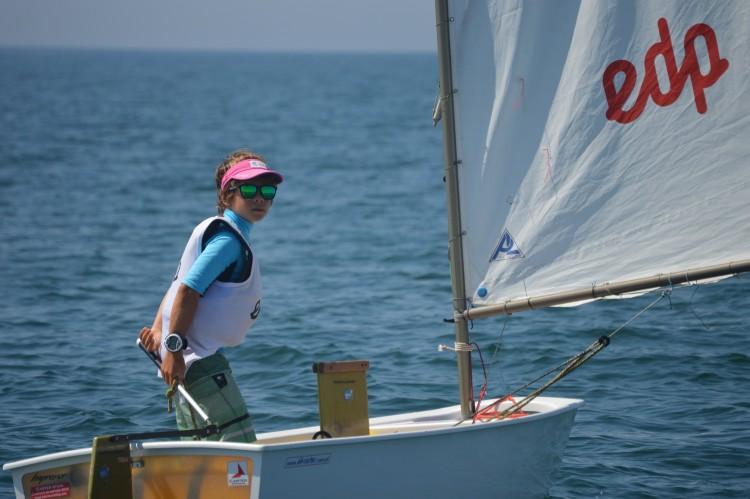 O farense Guilherme Cavaco esteve perto da vitória, mas cometeu um erro que a falta de vento não lhe permitiu descartar (®PauloMarcelino)
