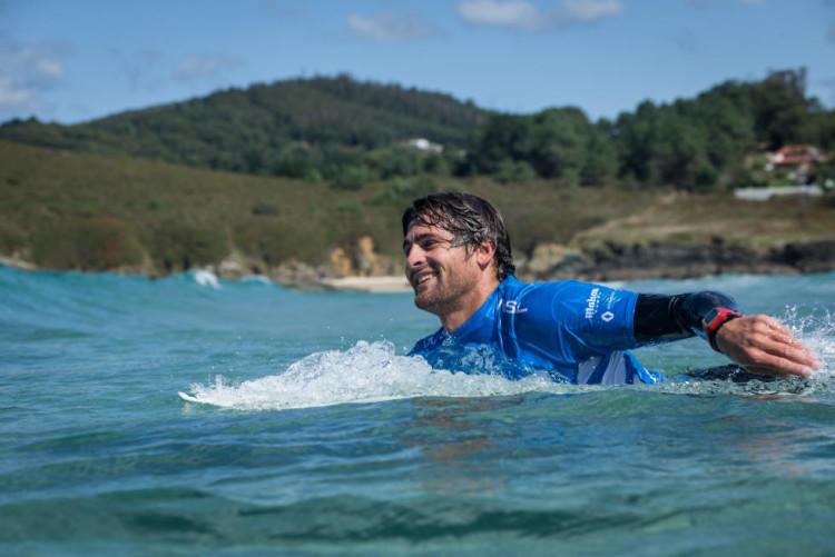 Gony Zubizarreta, herói local na Galiza e amigo e sócio de Marlon na Jam Traction (®WSL)