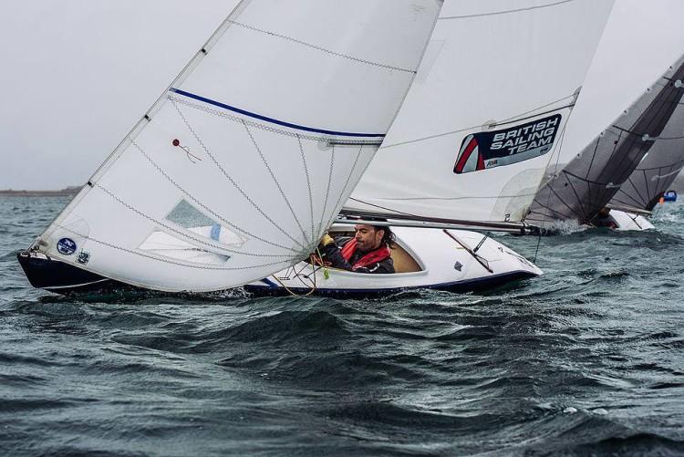 No Europeu, João Pinto vai competir em 2.4mR, barco no qual tem apenas poucos dias de mar e que experimentou pela primeira vez (foto) em agosto (®VelaSolidaria)