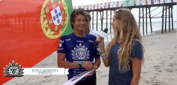 João Moreira estava confiante após vencer o seu segundo 'heat' a eliminar… mas perdeu no seguinte, o último do dia (®sreenshot)