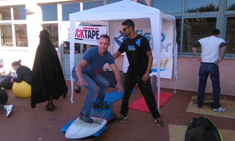 Apresentação FisioRider em Silves foi realizada com a participação do surfista Paulo Almeida (®DireitosReservados)