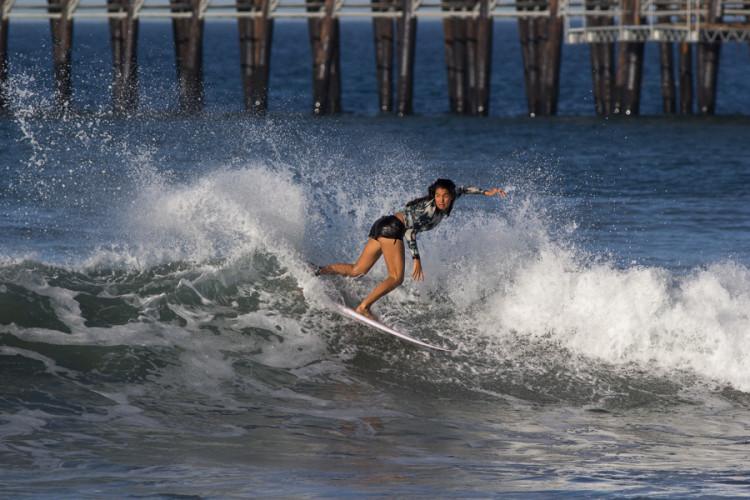 O surf de Teresa Bonvalot já tinha dado nas vistas durante as sessões de treino antes de começar o campeonato (®ChrisGrant/ISA)
