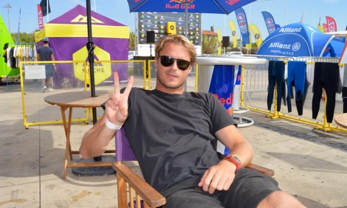 Montepio Cascais Pro | Carcavelos | 9 outubro | Marlon Lipke em modo descontração (®PauloMarcelino)