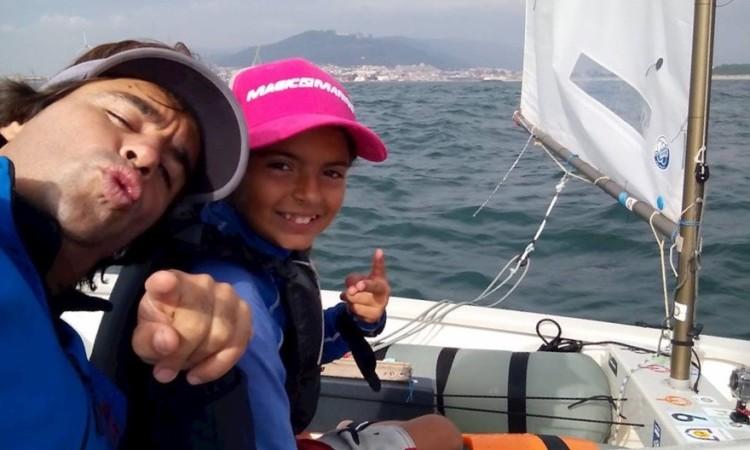 Beatriz Cintra com o treinador Frederico Coutinho Rato (®DireitosReservados)