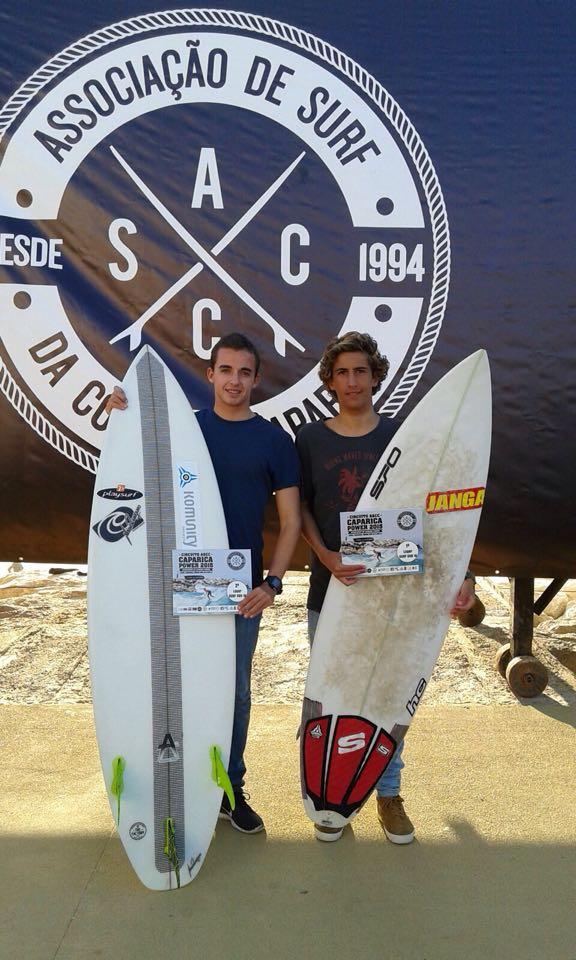 António Silveira (à esquerda) e Frederico 'Martim' Magalhães deixaram a marca Algarve na Costa de Caparica (®DireitosReservados)