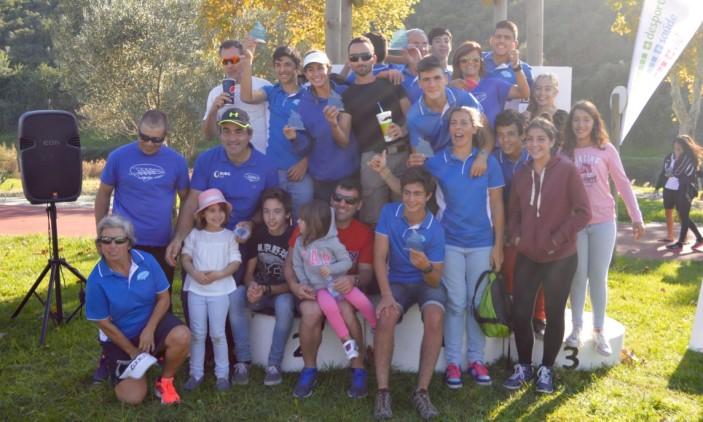 Comitiva do Clube Náutico Milfontes, vencedor da XVIII Subida Internacional do Rio Arade em Canoagem (®PauloMarcelino)