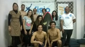 Foto de grupo após a visita de estudo à Fisiorider (®DireitosReservados)