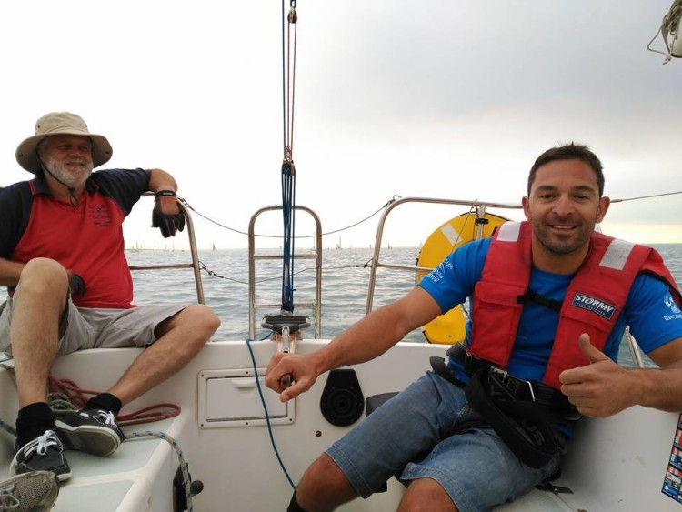 João Pinto participou em duas regatas de treino em Melbourne, mas ainda sem o seu 2.4mR (®DireitosReservados)
