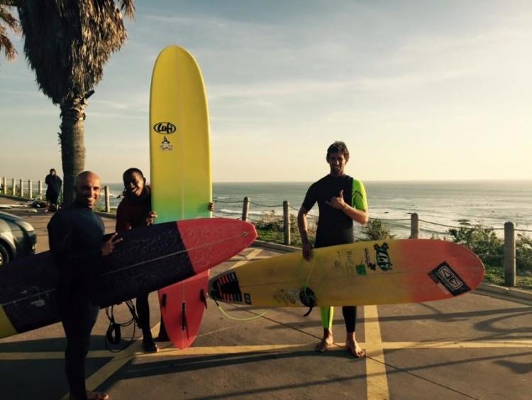 Luís Esteves, à direita, com Jefson Silva e Rodrigo Shpaier, todos elementos do Team Lufi (®LufiCo)