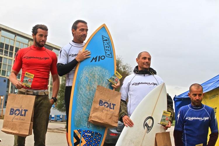 Miguel Marinho, de azul, no 4º lugar do pódio Nacional Masters (®PikasPhotography/CSPorto)