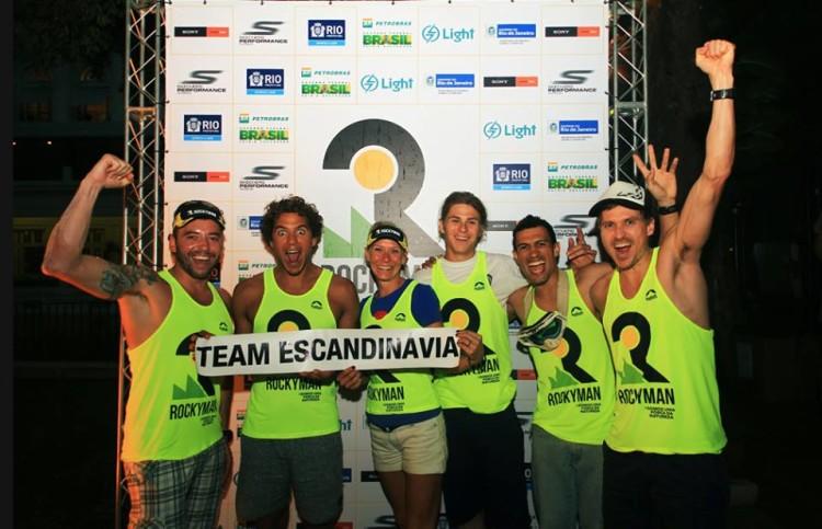 Team Escandinávia, com Luca Guichard a segurar o papel com o nome da equipa (®DireitosReservados)
