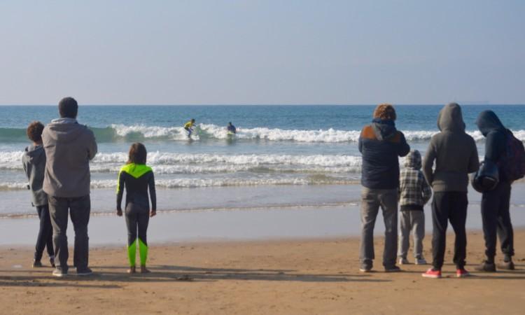 Mar esteve muito pequeno, este sábado, em São Torpes (®PauloMarcelino)