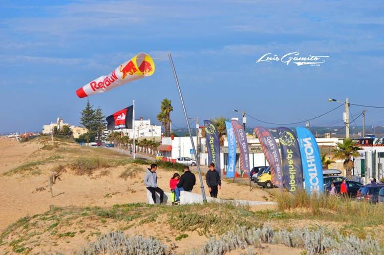 Praia de Faro engalanada para a prova do clube, sábado, 19 de dezembro (®LuisGamito)