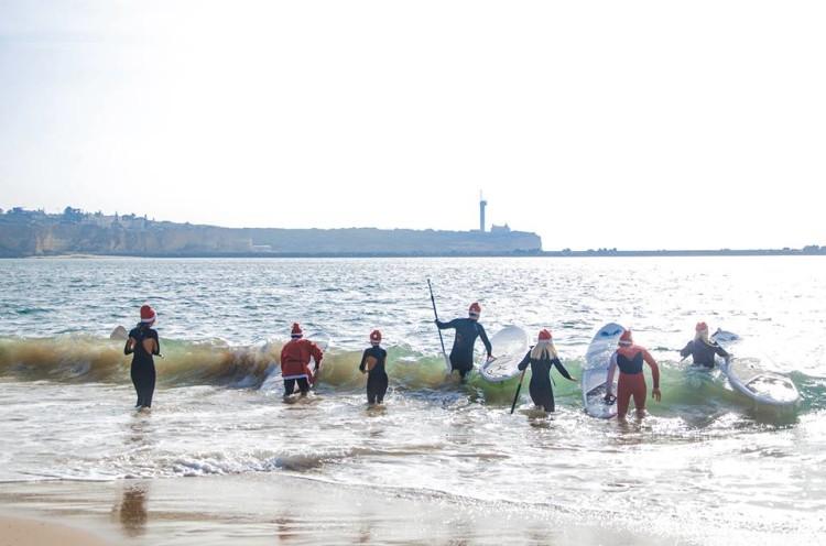 Grupo fez-se à água fria do Rio Arade pelas 11h00 (®JoaoPedroLeopoldo)