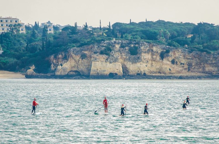 Grupo atravessou o Rio Arade de Portimão e Ferragudo e regressou (®JoaoPedroLeopoldo)