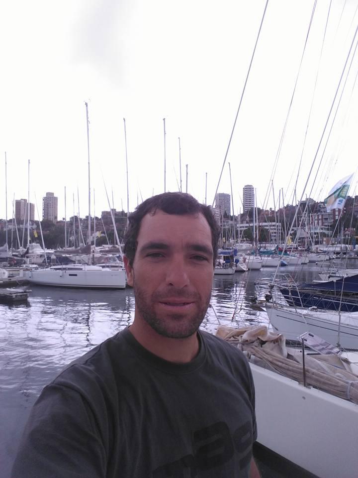 Uma 'selfie' de Luís Brito no Porto de Sydney (®DR)