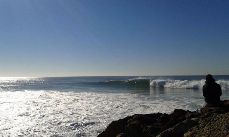 Mar esteve grande na Costa de Caparica, no domingo, 2º dia da etapa (®BentoSantos)