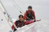 Miguel Ferreia (1º plano) e Rui Ribeiro formam tripulação habitual em 420 e são atletas do Clube Náutico de Tavira (®CustodioSancho/Arquivo)