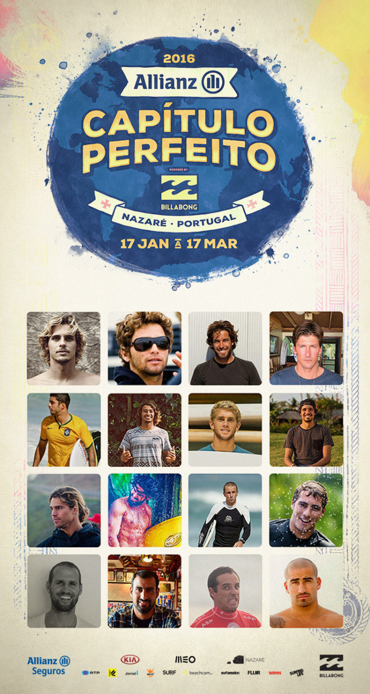 16 finalistas eleitos e escolhidos para a estreia do Capítulo Perfeito na Nazaré (®)