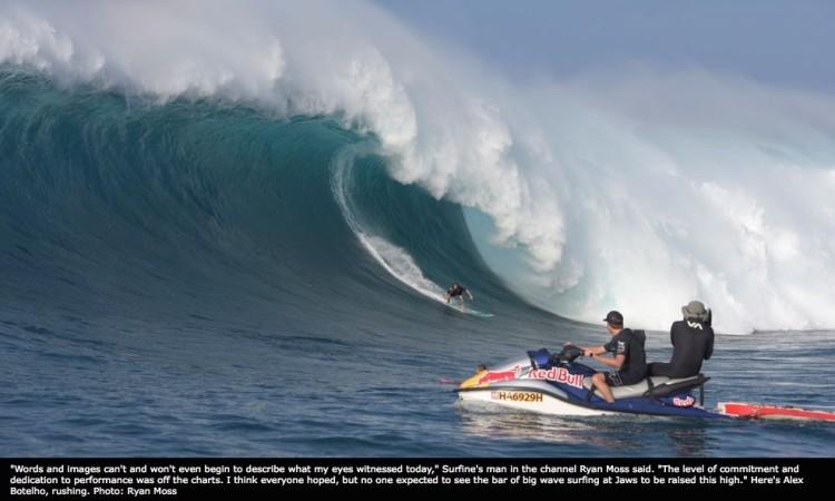 Alex Botelho em Jaws, sexta-feira, 15 janeiro 2016 (®RyanMoss/Surfline.com)