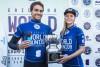 Lucas Silveira, Brasil; e Isabella Nichols, Austrália; Campeões do Mundo de Surf Junior 2016 (®WSL/DamienPoullenot)