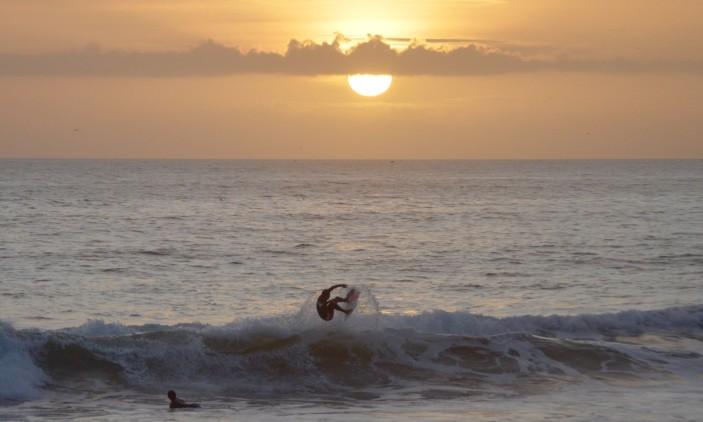 Praia da Rocha   2016-01-20   Treino ao pôr do sol   Portimão Surf Clube (®PauloMarcelino)