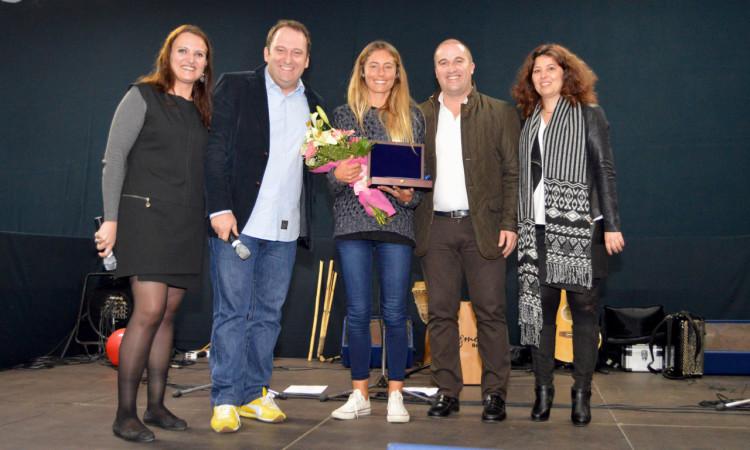 Joana Schenker, da Associação de Bodyboard de Sagres, foi a única atleta a receber diploma de elevado mérito desportivo (®PauloMarcelino)