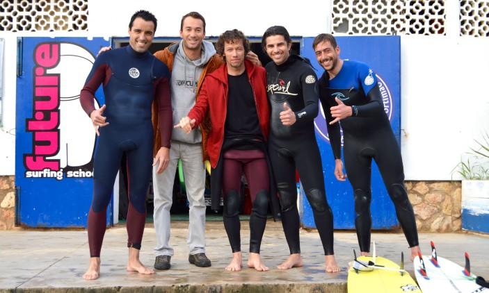 Praia da Rocha | 2015-01-24 | Nuno Oliveira, Ricardo Gonçalves, Gustavo 'Guga' Gouveia, Ivo Anselmo e José Gorgulho (®PauloMarcelino)