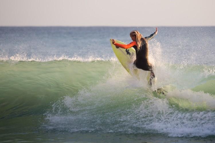A atleta já tem experiência na moda e quer fazer do surf o seu modo de vida (®JorgeSantos)