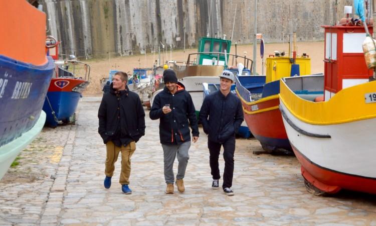 Da esquerda: Noe Mar McGonagle, Gony Zubizarreta e Marlon Lipke (®PauloMarcelino)