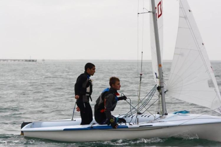 Nova tripulação 420 do GCNFaro, Pedro Roque/Sidney Hughes, em ação em Olhão (®GCNF)