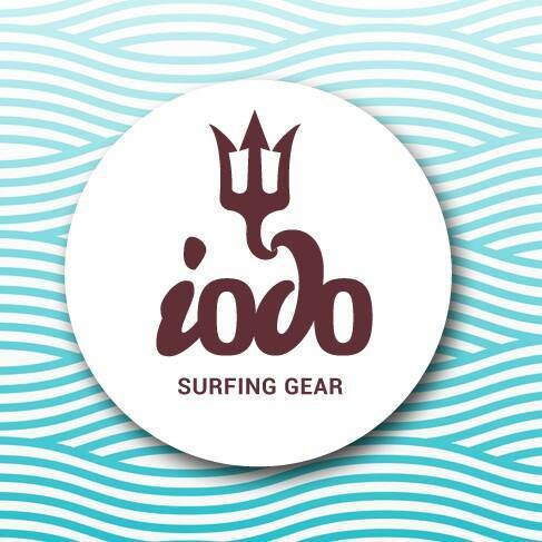 Logo da nova marca algarvia: Iodo Surfing Gear (®DR)