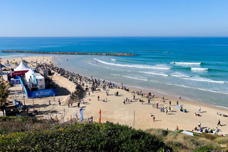 Praia Kontiki, este sábado, durante o mini-campeonato de exibição AirMerrick & GoPro Freestyle Session (®WDL/LaurentMasurel)