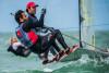 Jorge Lima/José Costa em ação na regata inaugural do Campeonato do Mundo de 49er, em Clearwater, EUA (®JenEdney)