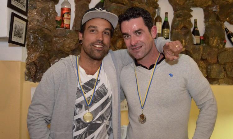 Pódio SUP Wave: Bruno Santos e Bruno Vieira (®PauloMarcelino)