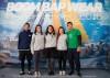 Joaquim Coutinho, Maria Pinheiro de Melo, Matilde Pinheiro de Melo, Joana Cassiano e João Cassiano; a equipa GCNFaro 3ª classificada no Campeonato de Portugal Match Racing Sub-23 (®BBDouro/NeuzaAiresPereira)