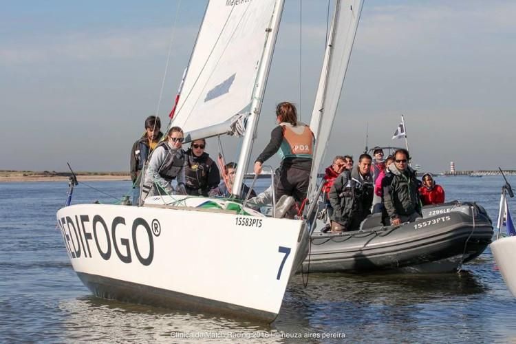 Tripulação do GCNFaro em treinos no Platu 25 no Rio Douro (®BBDouro/NeuzaAiresPereira)