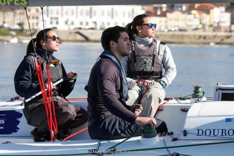 Maria Pinheiro de Melo é 'o leme' da equipa de Faro, na imagem com Joana Rocheta Cassiano e Joaquim Coutinho (®BBDouro/NeuzaAiresPereira)
