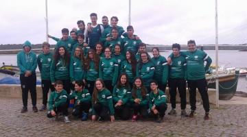 Equipa do GDAlcoutim que conquistou o 8º título regional de fundo consecutivo para o clube (®GDAlcoutim)