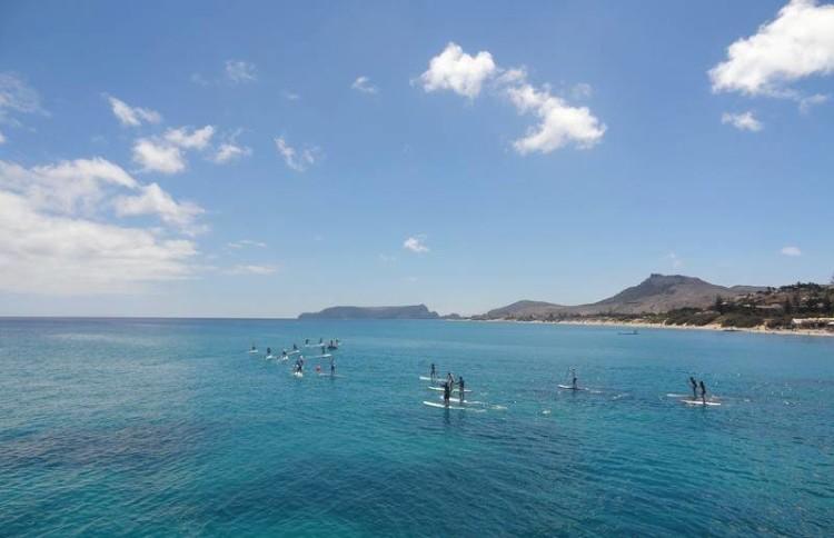 SUP em Porto Santo, arquipélago da Madeira (®NSP)