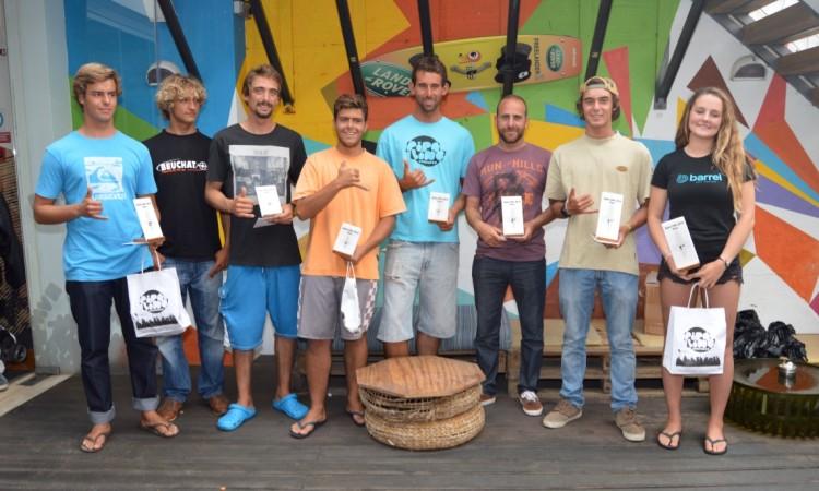 Medalhados na etapa em Faro do CN Longboard 2015 (®PauloMarcelino/Arquivo)