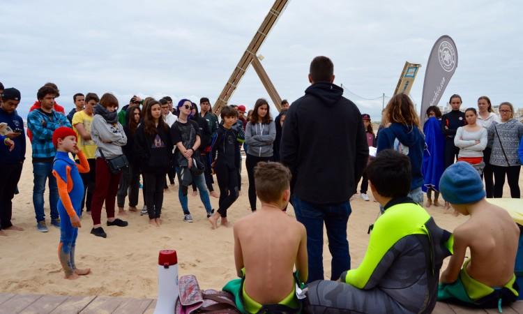 'Briefing' inicial antes de começar a competição na Praia da Rocha (®PauloMarcelino)